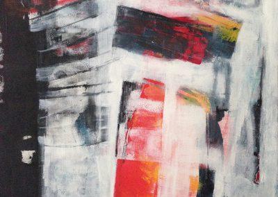Losgelaten – acryl op canvas – 75 x 100 cm