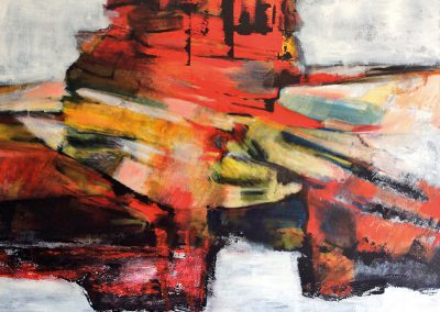 Traveling is an adventure – acryl op canvas – 80 x 100 cm