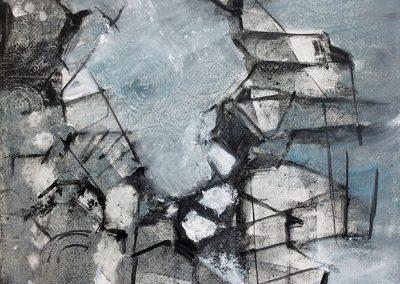 Zonder titel 1 – acryl op canvas – 30 x 40 cm