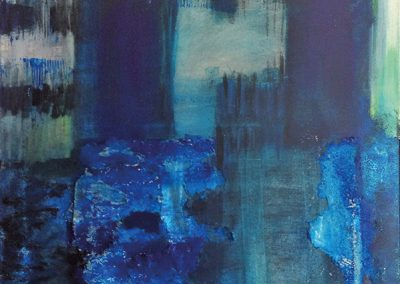 Verwaterd – acryl op canvas – 60 x 80 cm