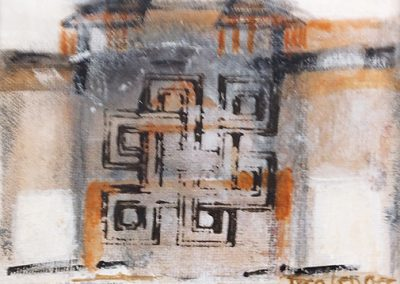Labyrinth – acryl op canvas – 15 x 15 cm