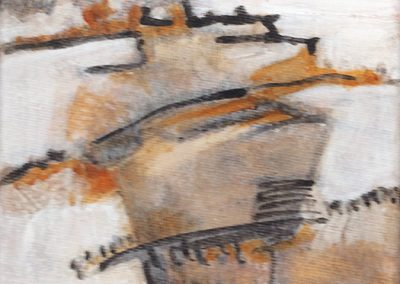 Ruig landschap 2 – acryl op canvas – 15 x 15 cm