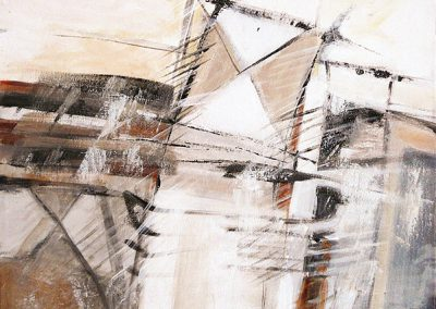 Landschap van boven – acryl op canvas – 40 x 40 cm