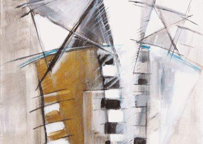 Los van elkaar – acryl op canvas – 40 x 40 cm