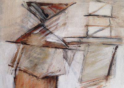 Stapeling – acryl op canvas – 40 x 40 cm