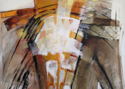 Rond gebogen – acryl op canvas – 70 x 83 cm