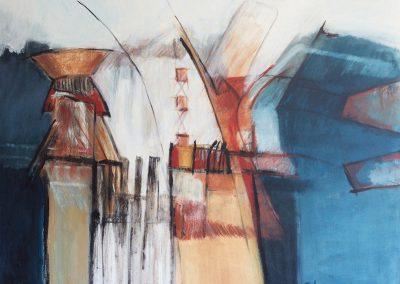 Afgesloten 1 – acryl op canvas – 100 x 100 cm