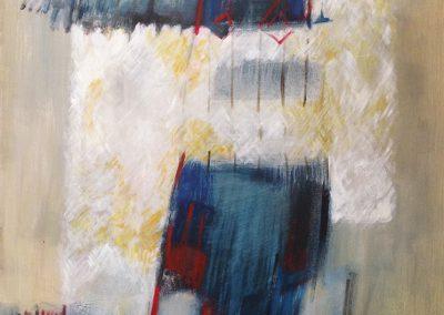 Zandkasteel – acryl op canvas – 75 x 90 cm