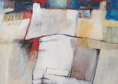 Doorvlochten – acryl op canvas – 50 x 65 cm