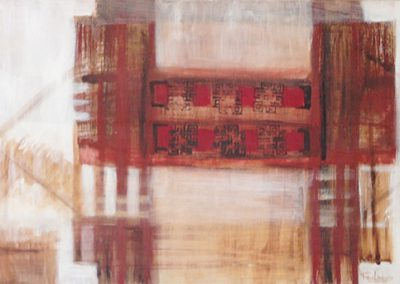 Chinees landschap 2 – acryl op canvas – 40 x 100 cm