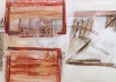 Chinees landschap 3 – acryl op canvas – 40 x 100 cm