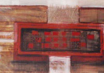 Chinees landschap 4 – acryl op canvas – 40 x 100 cm