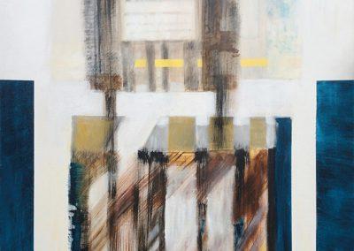 Afgebakend – acryl op canvas – 120 x 120 cm