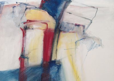 De uitkijktoren – acryl op board – 50 x 65 cm