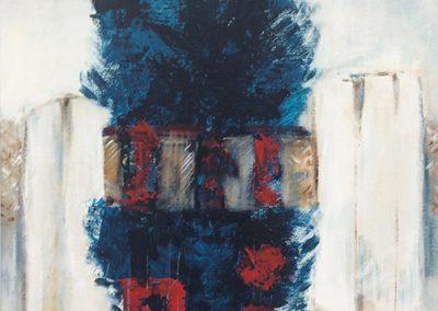 Tegenwicht 1 – acryl op canvas – 60 x 70 cm