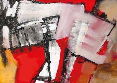 Open midden – acryl op canvas – 140 x 140 cm