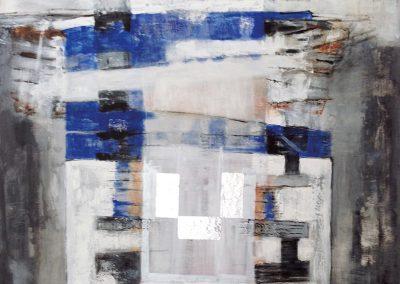 Afgebakend – acryl op canvas – 100 x 100 cm