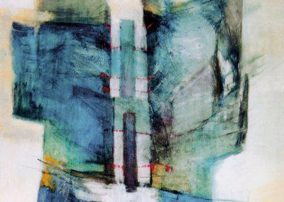 In between – acryl op canvas – 100 x 100 cm