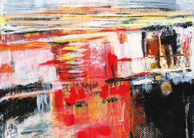 Landschap – acryl op canvas – 15 x 15 cm