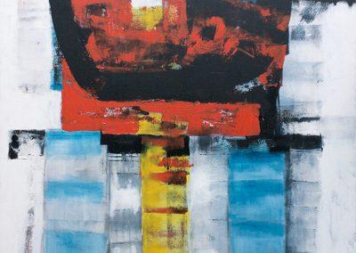 Ondergronds 2 – acryl op canvas – 100 x 120 cm