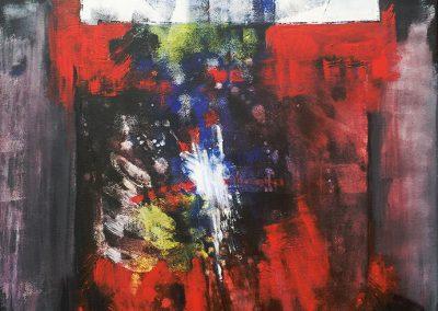 Ondergronds 3 – acryl op canvas – 70 x 85 cm