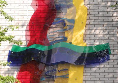 Stad, land en water - plexiglas muurobject - Hofmark 155, Almere-Haven