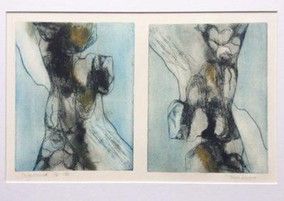 Omgedraaid - ets - 1/10 - 50 x 65 cm