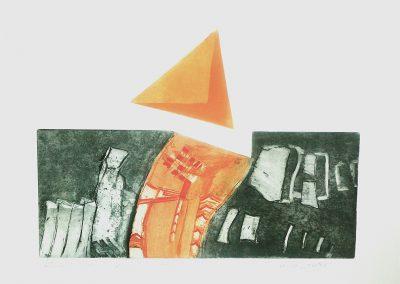 Losgelaten - ets - 40 x 65 cm