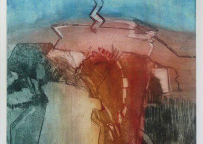 Donderslag bij heldere hemel - ets - 1/20 - 50 x 65 cm