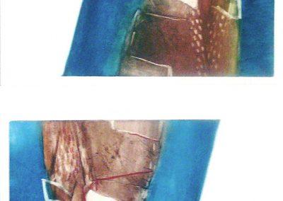 Omgedraaid - ets - 1/1 - 70 x100 cm