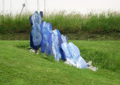 Waterval - bewerkt perspex - tuin van het Muiderslot