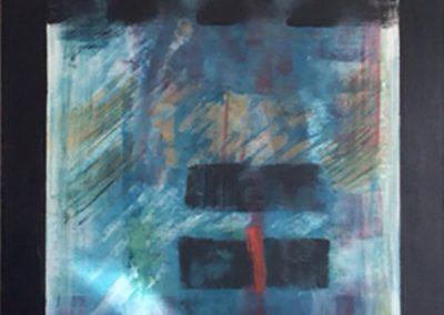 Onderbreking – acryl op doek