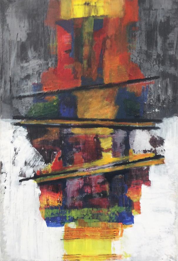Tegendraads 1 - acryl op doek formaat - 70 x 100 cm